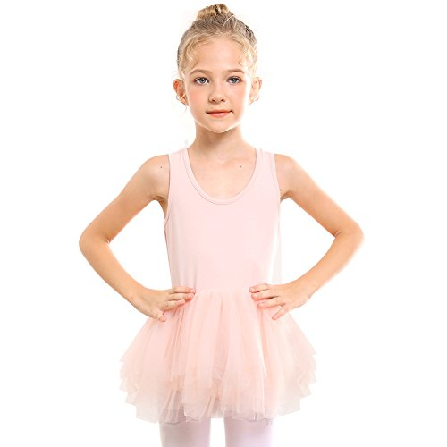 STELLE Ballet Dress Leotard Girls Toddlers Dance Skirt, Tag110 (5-6Y), Pink by STELLE