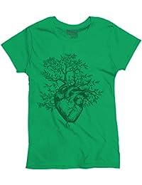 Sprouting Heart Shirt   Spirit Animal ZEN Garden Mystic Truth Ladies T-Shirt