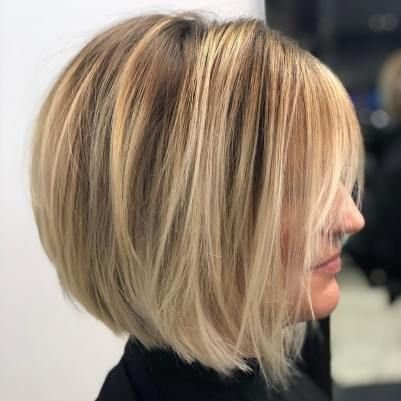 """LaaVoo 10"""" Monofilament Front Lace Straight Bob Wig 130% Density Highlighted Dark Brown Mixed Blonde Human Hair Wig Per Cut Middle Part"""