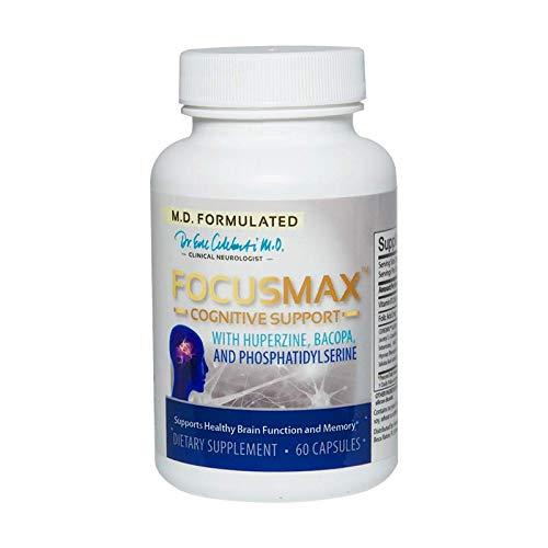 FocusMax by Relaxium - Extra Strength Cognitive Support - Supports Healthy Brain Function and Memory - M.D. Formulated with Huperzine, Bacopa, More (1)