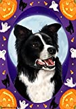 "Border Collie by Tamara Burnett Halloween Howls House Flag 28""x40"""