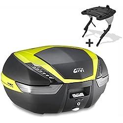 Top Case Set Yamaha FZS 600 Fazer 98-03 Givi Monokey V47NNTFL black / neon-yellow