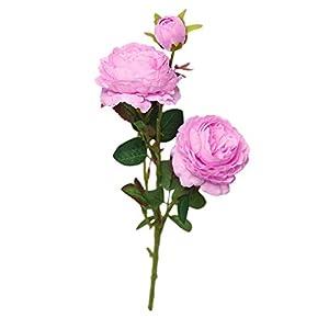 Juesi Artificial Fake Western Rose Flower Peony Bridal Bouquet Wedding Home Decor 14