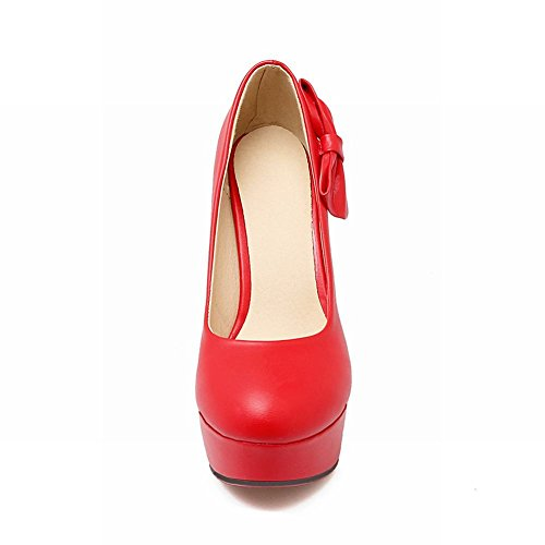 Sexy Bows Court Platform Femmes Shoes Rouge Side Mee Chaussures 1qEtq6