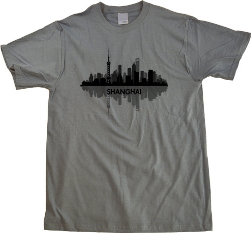 Skyline of Shanghai, China Unisex T-shirt Shanghai China Shirt