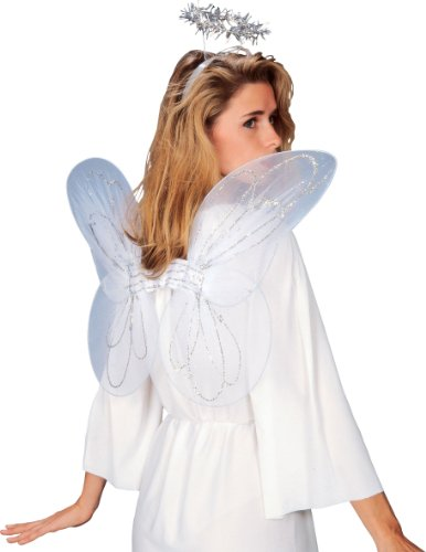 [Rubie's Angel Wings and Halo Set, White, One Size] (Costumes Of Angel)