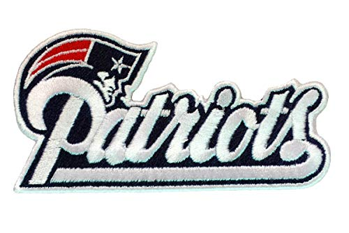 Patriots Football Fully Embroidered Iron On Patch InspireMe Family Owned (3.625