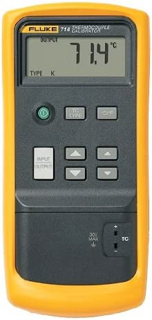 Fluke 714 thermocouple calibrator at the test equipment depot.