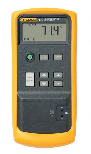 Fluke 714 LCD Thermocouple Calibrator, 75mV Voltage