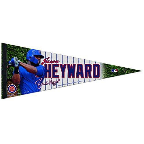 WinCraft MLB Chicago Cubs Jason Heyward Premium Pennant, 12 x 30-Inch