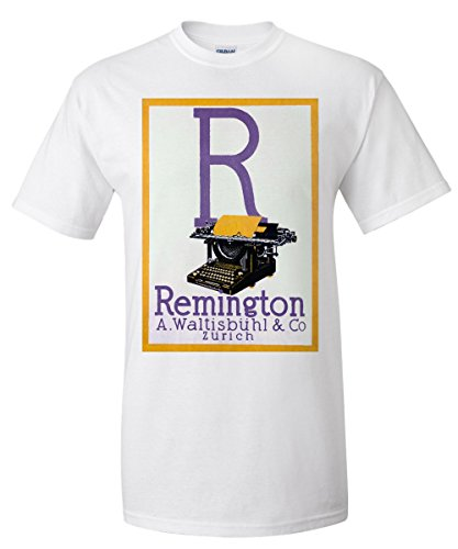 Remington Vintage Poster Switzerland (White T-Shirt - Remington Park