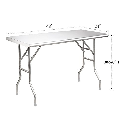 Royal Gourmet Stainless Steel Folding Work Table, 48'' L x 24'' W by Royal Gourmet (Image #7)