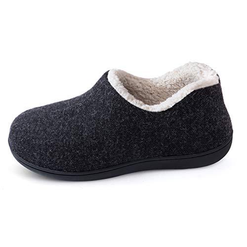 ULTRAIDEAS Women's Cozy Memory Foam Closed Back Slippers with Warm Fleece Lining, Wool-Like Blend Cotton House Shoes…