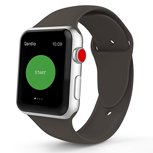 IYOU Sport Band Compatible with Watch Band 38MM 42MM, Soft Silicone Replacement Sport Strap Compatible with 2018 Watch Series 4/3/2/1