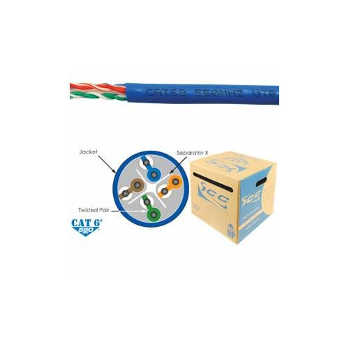 ICC ICC-ICCABR6EBL Cat6e Cmr Pvc Cable Blue White Box