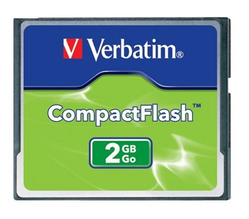 Verbatim 2GB CompactFlash Memory Card - 47012 2 Compatible with all major operating systems including DOS/WINDOWS 98/ME/2000/NT/CE, Mac OS, Epoc (PSION), and Linux Fully erasable with low power consumption High Performance Controller for demanding applications