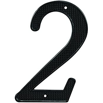 RCH Hardware 7505BLK70 Wrought Iron 2.75 Tall House Number 5 Black 2.75 Inch Matching Screws Included European Country Style