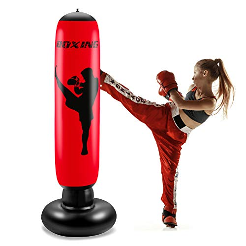 NONZERS Inflatable Kids Punching Bag, Fitness Punching Bag for Kids, Freestanding Standing Boxing Bag for Children…