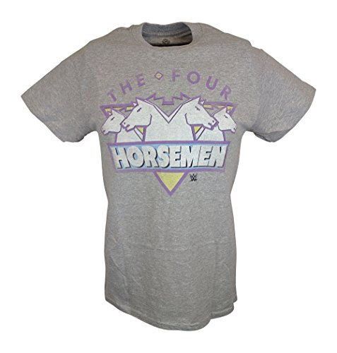 The Four Horsemen WCW Mens Gray T-shirt-3XL by WWE