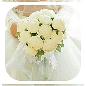 Memoirs- 2019 Wedding Accessories Bridesmaid Wedding Bride Bouquet Romantic Wedding Bouquet Flower Brides,01 2