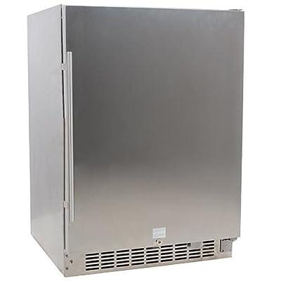 EdgeStar CBR1501OD 24 Inch Wide 142 Can Built-In Outdoor Beverage Cooler with Op