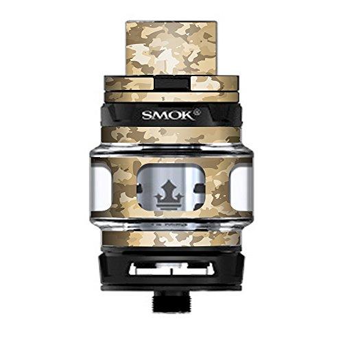 Tank Desert Camouflage - Skin Decal Vinyl Wrap for Smok TFV12 Prince Tank Vape Kit skins stickers cover / Brown Desert Camo camouflage