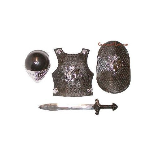 [Castle Toys Small World Imaginative Play Knight in Shining Armor Toy, Silver] (Shining Knight Costumes)