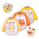 Baby Boys Girls Bibs Iuhan Baby Bibs Burp Cloths Waterproof Cartoon Kids Drawing Smock Feeding Accessories Yellow