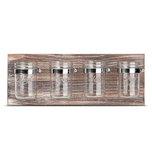 GBtroo Bathroom Decor Mason Jar Farmhouse Decor - Bathroom Organizer Farmhouse Kitchen Gift Ideal for Hanging On Wall Kitchen Storage Light Coffee
