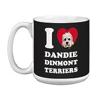 Tree Free Greetings XM29041 I Heart Dandie Dinmont Terriers Artful Jumbo Mug, 20-Ounce