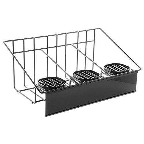 (HUBERT Airpot Coffee Dispenser Rack with Drip Trays for Three Airpots)