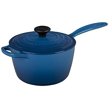 Le Creuset of America Enameled Cast Iron Sauce Pan, 2 1/4-Quart, Marseille