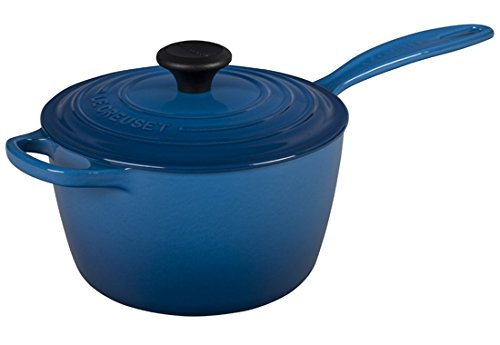 Le Creuset of America Enameled Cast Iron Sauce Pan, 2 1/4-Quart, Marseille