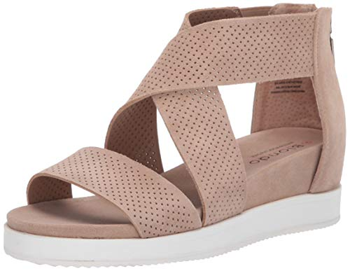 Blondo Women's Cassie Sandal, Sand Suede, 8.0 Medium US