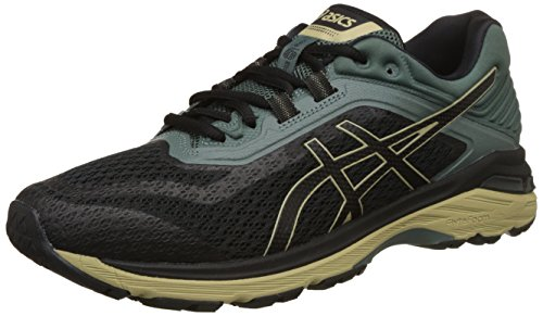 ASICS Men's GT-2000 6 Trail Black/Dark Forest Running Shoes-8...