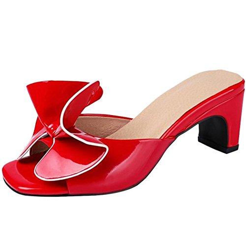 Enfiler Taoffen Mules Élégant À Red Femmes 7wnqAv8a
