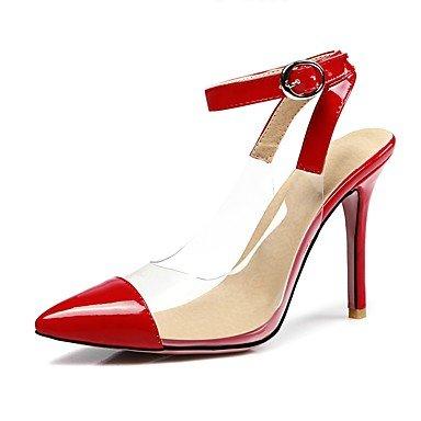 LvYuan Mujer-Tacón Stiletto-Otro-Sandalias-Vestido-Cuero Patentado Materiales Personalizados-Negro Rojo Beige Red