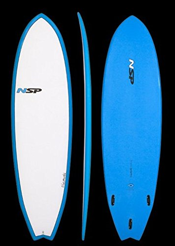 NSP-Elements-Fish-64-x-20-78-x-2-916-39L-Surfboard-Blue-Fins-Included