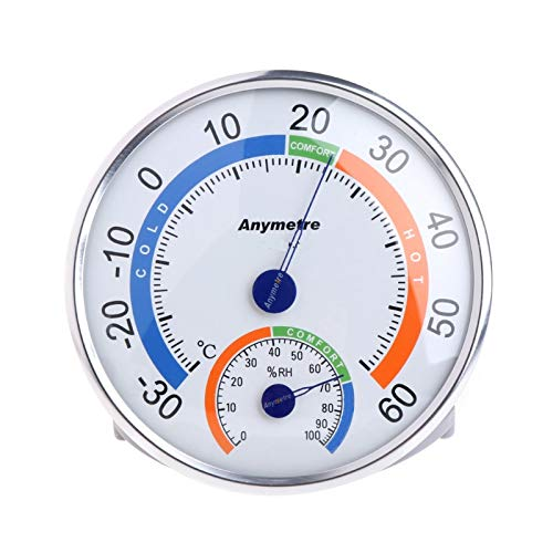 Indoor Outdoor Round Shape Thermometer Temperature Garden Hygrometer Comfortable Tester Weather Humidity Meters Wishlink