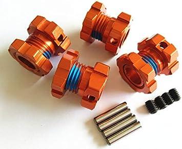 Crazyracer Aluminum Splined 17mm Wheel Hubs Hex Adaptar 4pcs Orange For Traxxas 1 10 E Revo 2 0 Vxl 8654 7758 Spielzeug