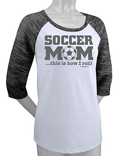 (Hip Together Soccer Mom Raglan (X-Large))