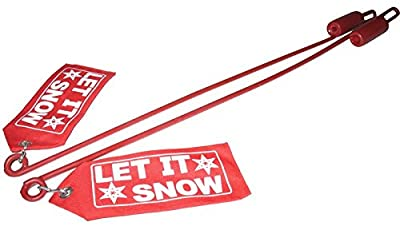 "New Snow Plow Blade Guide Fits Western Plow Blade Guide Kit W/red ""let It Snow"" Flag 59700"