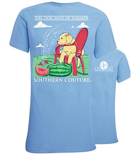 Southern Couture SC Classic Dog Days Womens Classic Fit T-Shirt - Carolina Blue, Medium