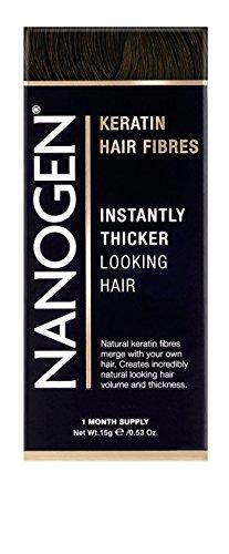 Nanogen Keratin Hair Fibers to Hide Bald Spots - Dark Brown, 15 grams