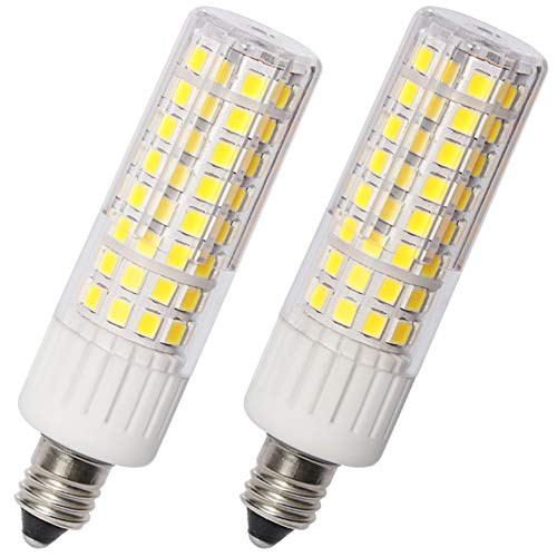 E11 Led Bulbs 7.5 Watt 937 Lumens AC 85V-265V Voltage Input,JD T3/T4 E11 Mini Candelabra Base, CRI>85, Pack of 2 (Daylight 6000K) ()