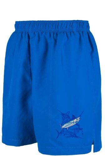 Guy Harvey Grand Slam Swim Trunks - Marlin - Royal Blue - - Swimwear Guys