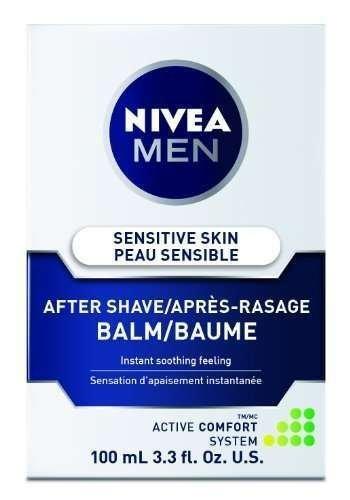 Nivea for Men Sensitive Post Shave Balm, Active Comfort System, 3.3-Ounce Bottles (Pack of 6) by Nivea for Men by Nivea for Men