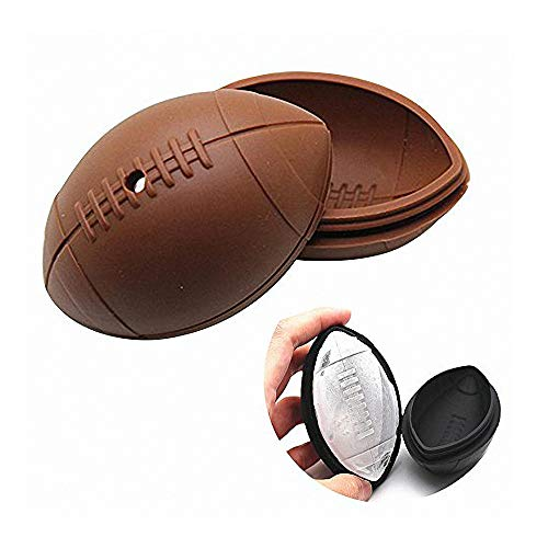 3D Rugby Ice Cube Mold - MoldFun Rugby Silicone Mold for Jello Bath Bomb Lotion Bar Handmade Soap Plaster Polymer Clay, Perfect Gift for American Football Fans (Soap Football)