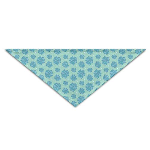 SYWY Washable and Long Lasting Bandanas Blue Camellia Flowers Pet Dog Cat Bandana Triangle Bibs Pet Scarf Dog Neckerchief Headkerchief Accessories