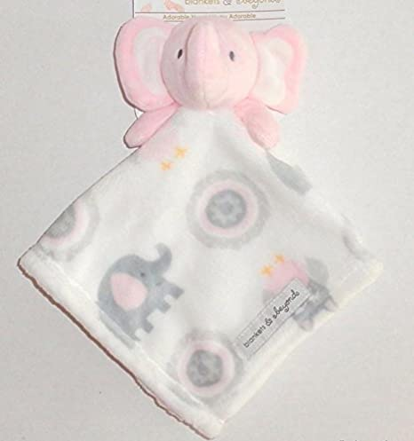 Blankets and Beyond Baby Plush Elephant Security Blanket Pink White Grey  Nunu  Amazon.co.uk  Kitchen   Home 50c6bbf91